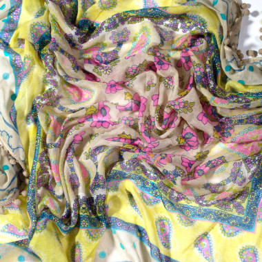 Čtvercový šátek se vzorem 110cm*110cm 9C3-121714