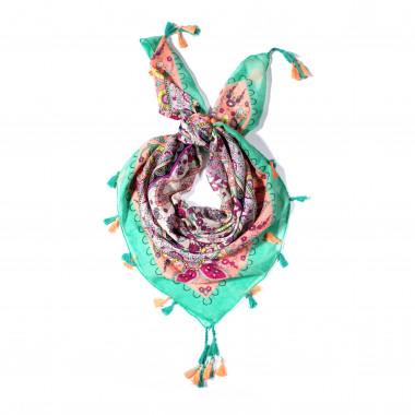 Čtvercový šátek se vzorem 110cm*110cm 9C3-121712