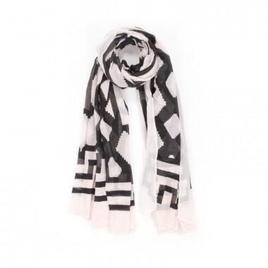 YSTRDY Velký šátek přes ramena geometrický motiv 180/105