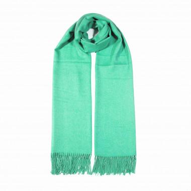 COXES - jednobarevná šála zelená unisex 250g - 210cm*70cm