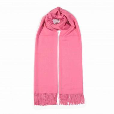 COXES - jednobarevná šála růžová unisex 250g - 210cm*70cm 6C1-766