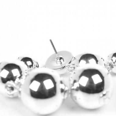 X   náušnice perly / stříbrný tón