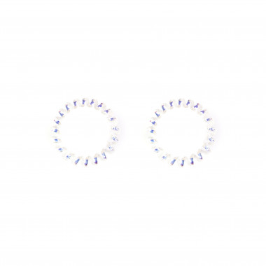 Gumičky do vlasů tvaru pružina stříbrná 5 cm / 2 ks