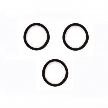 Gumičky do vlasů černé bez spoje 4 cm / 3 ks