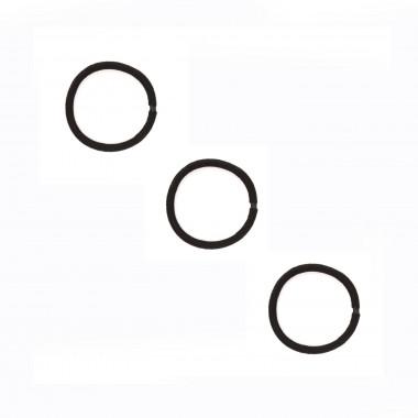 Gumičky do vlasů černé se spojem 5 cm / 3 ks