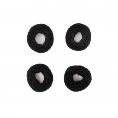 Černé gumičky do vlasů huňaté 4 cm / 4 ks