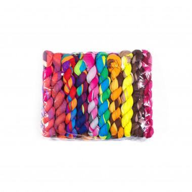 Dlouhý lehký šátek přes ramena DUHA / MIX barva / 20 kusů v balení 150cm*55cm 2A3-121560