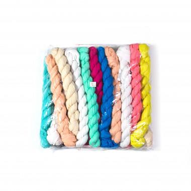 Dlouhý lehký šátek přes ramena JEDNOBAREVNÝ / MIX barva / 20 kusů v balení 150cm*55cm 2A3-121561