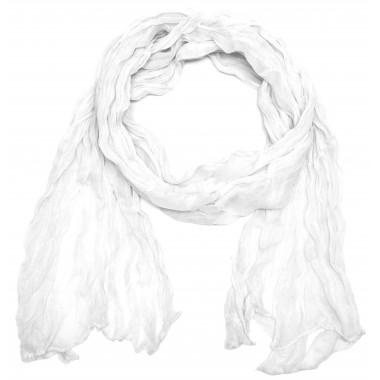Dlouhý lehký šátek na krk bílý 1E3-1200