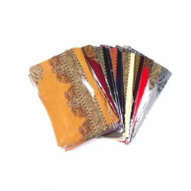 Dlouhý lehký šátek přes ramena / MIX barva / 20 kusů v balení 150cm*55cm 2E3-121562