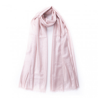 Elegantní šátek přes ramena s lesklou nití růžový 200/70