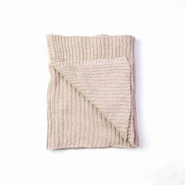 Unisex šála pletená béžová 180/40