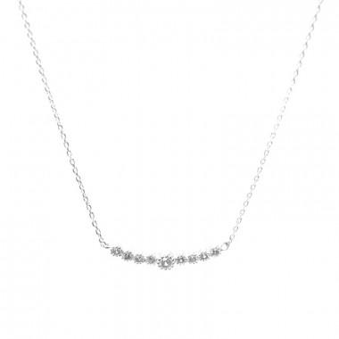 X | jemný řetízek belcher s kamínky / stříbrný tón