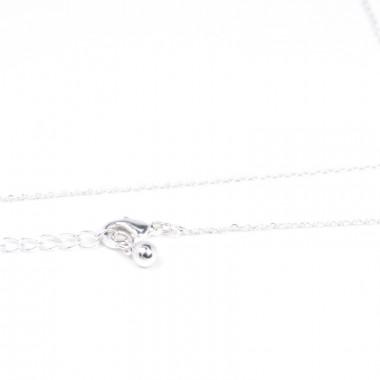 X | jemný řetízek belcher s perličkou / stříbrný tón