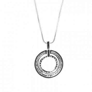 X | řetízek venezia s kroužky / stříbrný tón