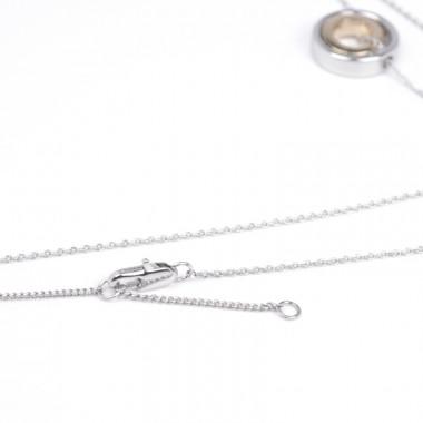 X | řetízek belcher s prstýnky / stříbrný tón