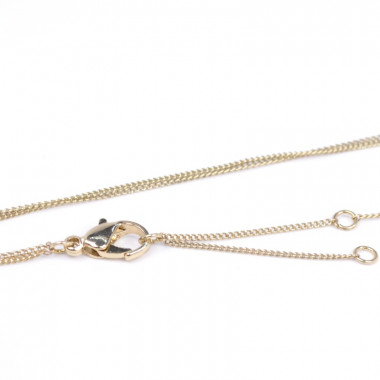 X | dvojitý řetízek ankr s perličkou a kamínky / zlatý tón
