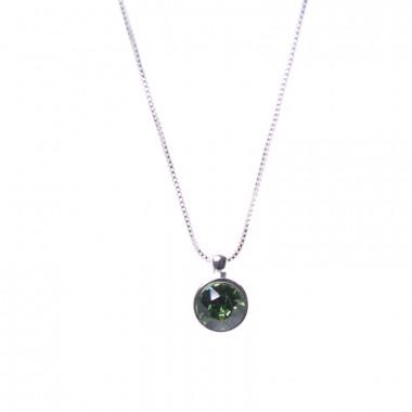 X | řetízek venezia s kamínkem / zelený tón