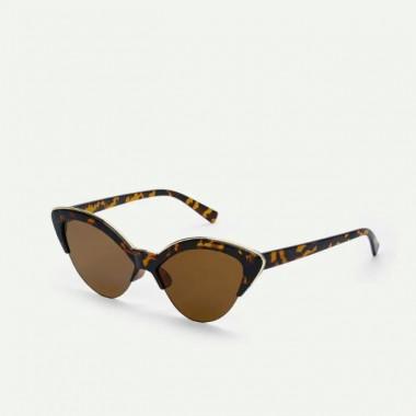 LUEUR Sluneční brýle cat eye se zlatým detailem B286