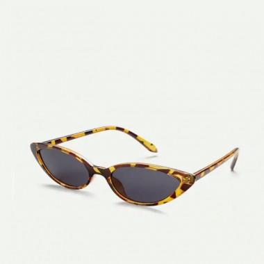 LUEUR Sluneční brýle cat eye slim želví vzor B294