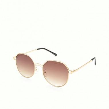 LUEUR Sluneční brýle round hnědé G192
