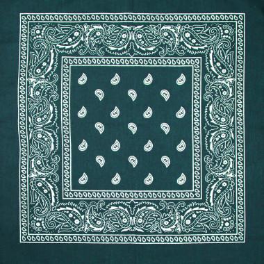 Čtvercový šátek do vlasů pin-up tyrkysový 53cm * 53cm BANDANA 4D2-121383