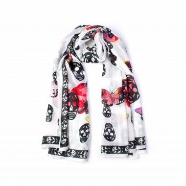 Dámský šátek přes ramena bílý 180/90