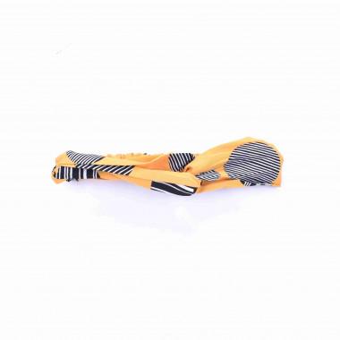 Šátková čelenka do vlasů s pruhy a kolečky