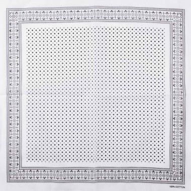 Bavlněný šátek s puntíky bílý 55/55