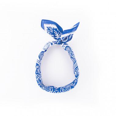 Pin-Up šátek paisley modrý 59/59