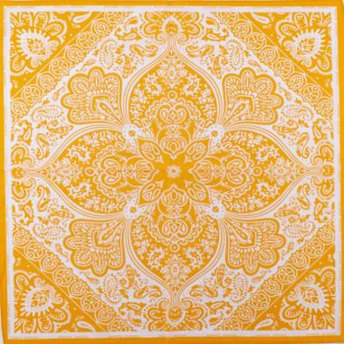 Pin-Up šátek paisley žlutý 59/59