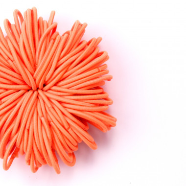 Gumičky do vlasů slim oranžové 100 ks / 3 cm