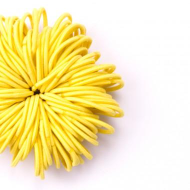 Gumičky do vlasů slim žluté 100 ks / 3 cm