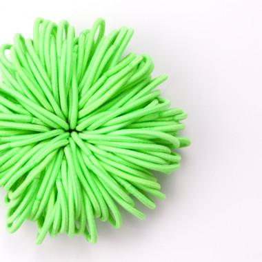Gumičky do vlasů slim sv. zelené 100 ks / 3 cm