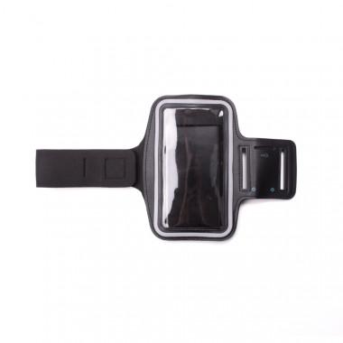 Sportovní černé pouzdro na mobil s upevněním na ruku pro běhání