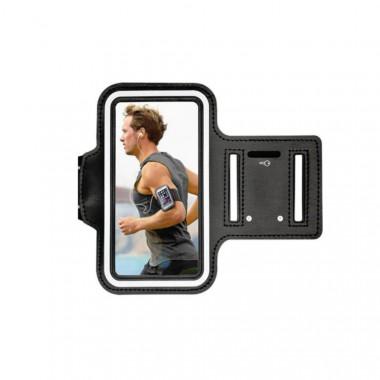 Sportovní bílé pouzdro na mobil s upevněním na ruku pro běhání