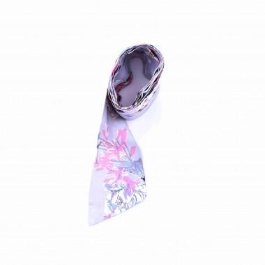 Slim šátek s desénem květin 150/7