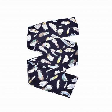 Slim šátek s desénem peříčka 150/15