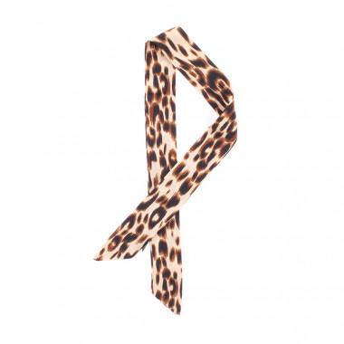 Slim šátek s desénem leopard 90/4