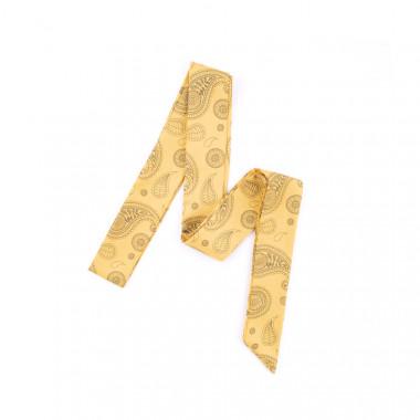 Slim šátek s desénem paisley žlutý 200/5