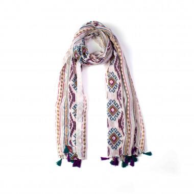 Dámský světlý šátek se vzorem 180/90