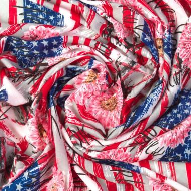 Dámský dlouhý šátek s USA vlajkou 180/110