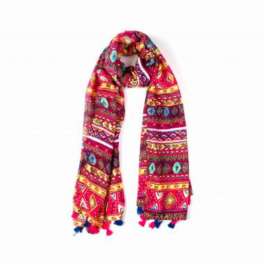 Dámský dlouhý barevný šátek přes ramena 180/90