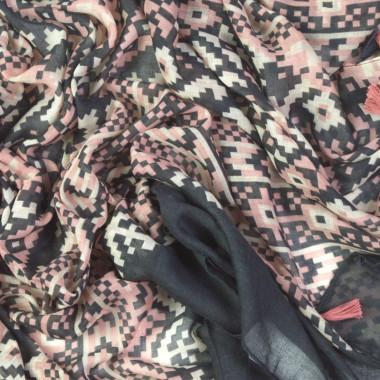 Dámský dlouhý šátek s kosočtvercem 180/90