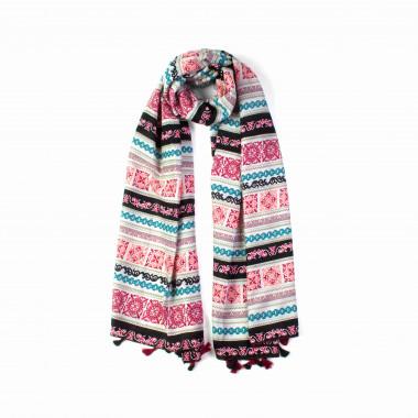 Dámský dlouhý šátek přes ramena se vzorem 180/90