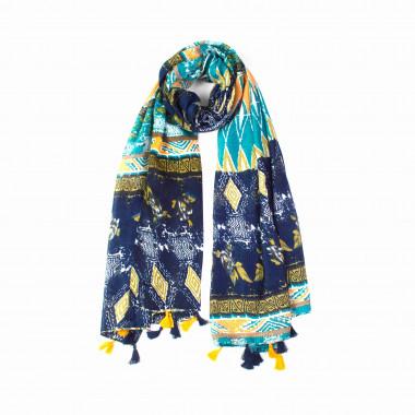 Dámský dlouhý šátek s třásněmi 180/90