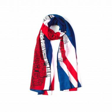 Dámský dlouhý šátek přes ramena s anglickou vlajkou 180/90