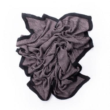 Šátek přes ramena minimalistický desén brown 170/90