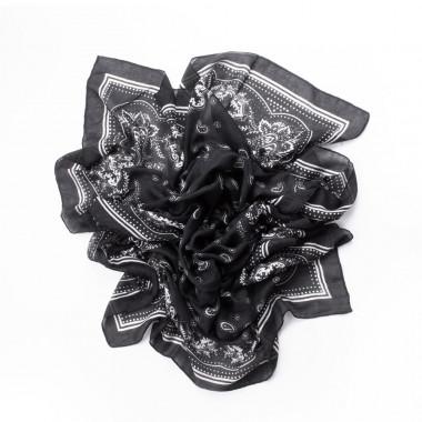 Šátek přes ramena paisley black TOP 180/80