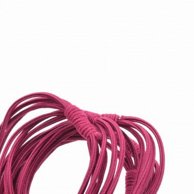 Gumičky do vlasů vázané bordó 5 ks / 5 cm